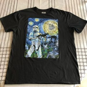 Star Wars Stormtrooper Night Adult T-shirt black